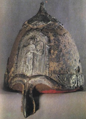 Helmet of Prince Yaroslav, son of Vsevolod. Early 13th century. Moscow Kremlin Museums