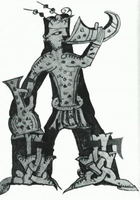 Novgorod Psalter. Detail