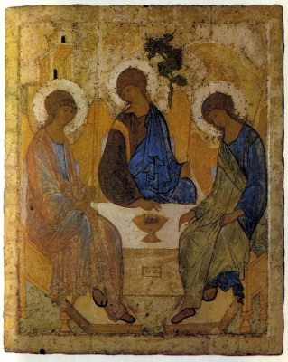 Andiei Rublev. Icon of the Old Testament Trinity. C. 1408. Tretyakov Gallery, Moscow