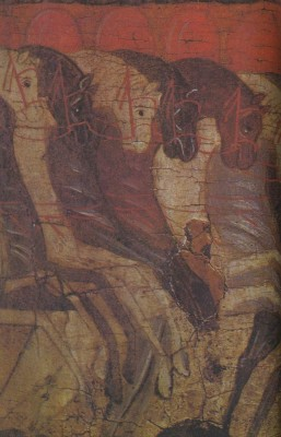 The Battle of the Novgorodians with the Suzdalians. Second half of 15th century. Detail of another icon